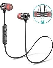 SNEHI® Wireless Sports Bluetooth Magnet Earphone Hand-Free Headphone for All Smartphone (Black)