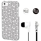 GRAPHT Keith Haring Collection - Coque iPhone 5/5S/SE People et écouteurs (Blanc)