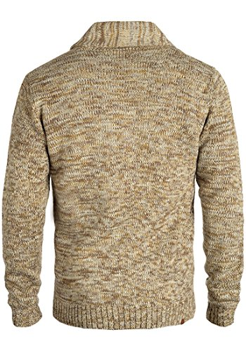 BLEND Takuto Herren Strickpullover mit Schalkragen aus angenehmer Baumwoll-Mischung Meliert Mocca Mix (70816)