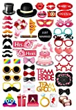 MotGlobal 52 pcs Foto Requisiten Hochzeit Party kreative Gegenstände Fotoaccessoires DIY Kit