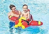 #10: Inflatable Kiddie Swim Pool Water Float Ring Tube Boat for Kids (Aeroplane, Red)