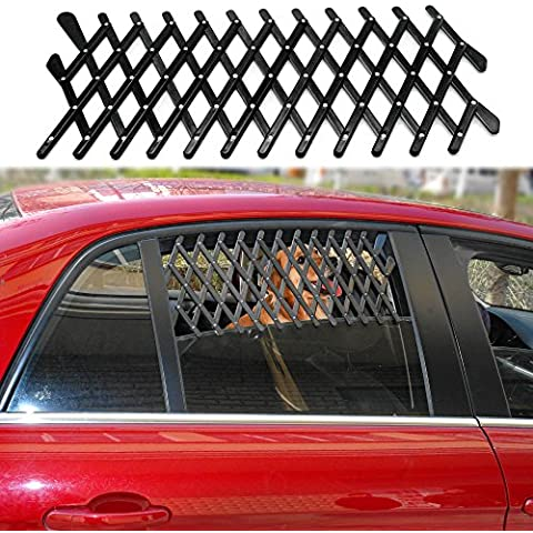 Vyset£¨TM) Universal Car Window Travel Vent Pet Dog Puppy Ventilation Grill Mesh Vent Guard Black