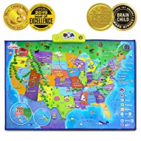 BEST LEARNING i-Poster My USA Interactive Map - Educational Talking Toy for Boys and Girls Ages 5 to 12 Years Old - Ideal Gift for Kids