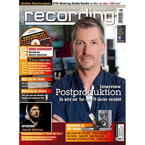 Recording Magazin 6 2015 mit DVD - Postproduktion Ton bei TV-Serien veredeln - aufnehmen - mischen - mastern