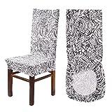 AllRight Housse de Chaise Protection Elastique Amovible pour Salle à Manger Moderne Modèle 6 pièces pour Mariage Cérémonie Réception