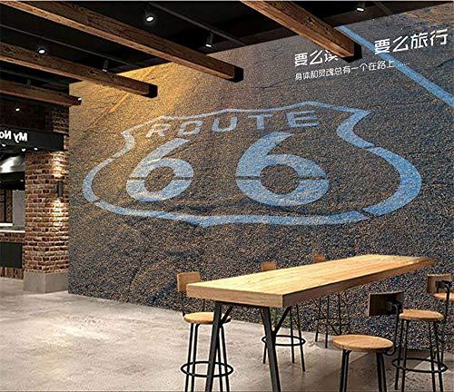 Glorious.Q Fotomurali 3D Scenario della Route 66 Carta da Parati