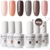 Gellen Vernis à Ongles Nail Art Semi Permanent Gel Nail Polish Soak Off French Manucure 8ml