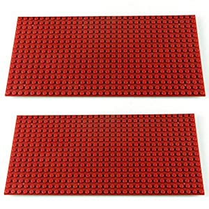 Katara- Set de 2 Placas de construcción, Color 2 x Rojo Oscuro (1672-091)