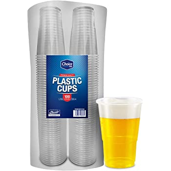 100 XSTRONG CLEAR Disposable Pint Glasses 20oz Party Rigid Katerglass// PARTY BBQ