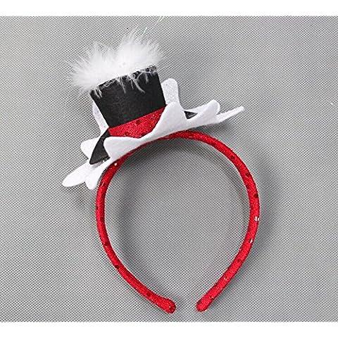 Decorazione di natale del Formosan cervi sika Elk punto hairbands copricapo spettacoli messi in scena (Bunny Velo)