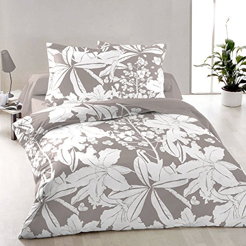 Aurora Bettwäsche (Blumen Aurora - SoulBedroom 100% Baumwolle Bettwäsche (2 Kissenbezüge 80x80 cm & Bettbezug 200x220 cm))