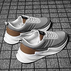 EUZeo Herren Retro Stil Turnschuhe Sneaker Slip on Sportschuhe Atmungsaktiv rutschfest Trainer für Running Fitness Gym Rutschfeste Mode Freizeitschuhe