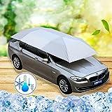 JL-Q Auto Sonnenschirm/Semi-Automobile Zelt Mobile Carport Faltbare Tragbare Auto Schutz Auto Regenschirm Sonnencreme Markise Abdeckung Universal (157.48''X86.62 '') Tri-Color Optional,Silver