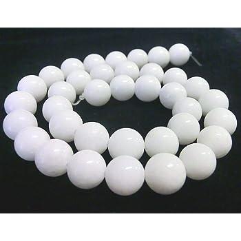 Jade weiß 4mm Perlen Kugeln rund Schmuckperlen 1 Strang weiß