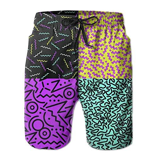 Retro Vintage 80s Fashion Style Casual Men's Quick-Dry Swim Trunk Cargo Pants Medium (Izod-uniformen)