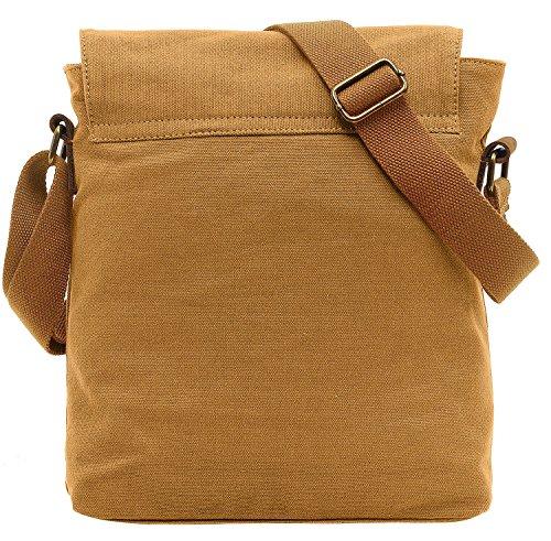 EcoCity Herren Basics Canvas Schultertasche Messenger Bag Armee-Gruen (MB0002A4) Khaki