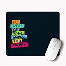 iKraft Non-Slip Gaming Rubber Mouse Pad 180x220x3mm, Do More of What Makes You Happy Inspiring Quote Mousepad