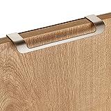 5 xMöbelgriff LYS BA 160 mm Edelstahloptik matt für Schränke, Schubladen und Falttüren von JUNKER DESIGN