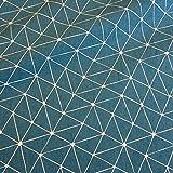 Stoff Meterware Baumwolle Origami Grafik petrol weiß