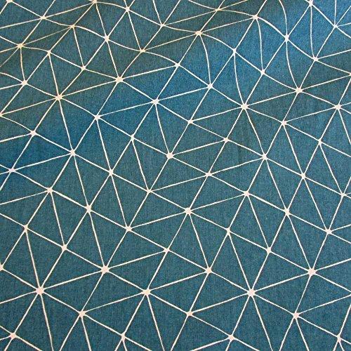 stoff-meterware-baumwolle-origami-grafik-petrol-weiss-linien-japan-pflegeleicht