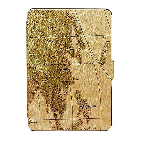 B00K Vintage Schutzhülle für Amazon Kindle Paperwhite Case Paperwhite Cover