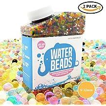 2x perlas de agua paquete ~ ~ diseño de arcoíris colores vibrantes ~ 14oz (80.000cuentas) para Orbeez Spa Recambio, juguete sensorial, niños baño juguete, jarrones, plantas, boda y decoración del hogar ~ 9–12mm de diámetro
