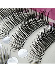 Bluelans® 10 Pairs Long False Eyelashes Eye Lashes Extension Natural Look