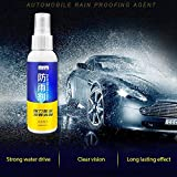 CWeep Hydrophobic Spray for Glass, Anti-Rain Spray for Automotive Front Windshield, Repel Rain and Water Ensuring Clear Visibility and Driving Safe 100ml(with a Towel) Hydrophobic