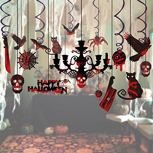 Hängende Ausgeschnittene Wirbel für Geisterhäuser – 17 Stück (Halloween-party-dekorationen Außerhalb)