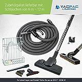 Zentralstaubsauger/Einbaustaubsauger/Staubsaugeranlage Vacustar Zubehörset/Zubehörpaket 3 -VacPac- (9m Schlauch)