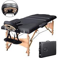 Vesgantti 3sections pliable Table de massage, résistant au feu de massage Canapé lit avec support appuie-tête en métal–-- 220kilogram