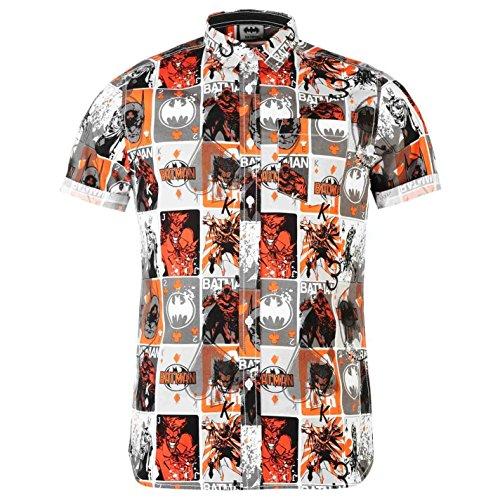 DC Comics Batman Mens Short Sleeve Dress Shirt 100% Cotton