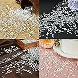 Willingood 3000 Stück Deko Diamanten Hochzeit Streudeko [6mm] Crystal Tisch Confetti Tischschmuck Tischdeko - 6