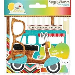 Des histoires simples Good Day Sunshine &pièces embouts pré-découpées Papier cartonné Ephemera 5829 pièces
