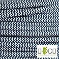 Elektrische Kabel in farbigem Stoff beschichtet. Made in Italy! 5 Meter 3x0, 75 Farbe: Grund Weiß Blau