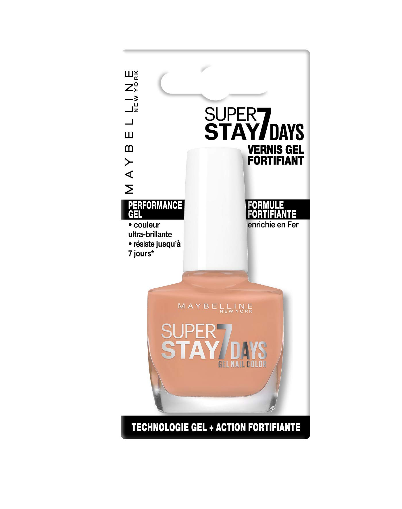 Maybelline New York – Vernis à Ongles Professionnel – Technologie Gel – Super Stay 7 Days – Teinte : Driver (897)