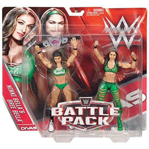 ELLA & BRIE BELLA) - WWE BATTLE PACKS 38 WWE TOY WRESTLING ACTION FIGURE 2-PACKS by Wrestling (Bella Twins Wwe)