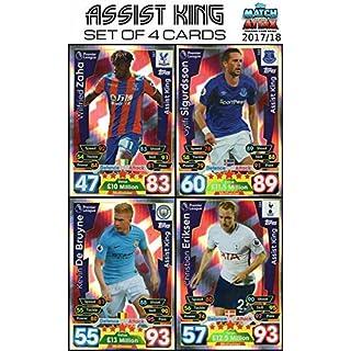 MATCH ATTAX 17/18 ALL 4 ASSIST KING CARDS - #361 - #364 2017/18