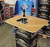 Original BestLoft® Bierkasten Stehtisch Partytisch Bistrotisch Tischaufsatz 70x58cm (Aufsatz+Servierbrett)