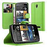 Cadorabo Hülle für HTC Desire 500 Hülle in Minz Grün Handyhülle mit Kartenfach und Standfunktion Case Cover Schutzhülle Etui Tasche Book Klapp Style Minz-Grün
