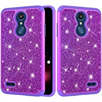 LG K10 2018 Hülle,HUDDU LG K10 2018 Hülle Glitzer Handyhülle Bling Glitter Hart PC Back Case Sparkles Luxus Hard... preisvergleich bei billige-tabletten.eu