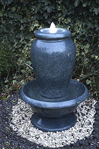 Brunnen Amphore Wasserspiel Springbrunnen mit LED Beleuchtung Gartenbrunnen Zimmerbrunnen