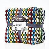 Paños de cocina Lumaland Serie Miami 6 piezas en seis colores diferentes 100% algodón 45 x 90 cm