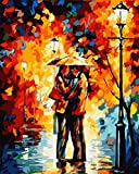 [ New Release ] Diy Oil Painting by Numbers, Paint by Number Kits - Street Lights Lovers 16*20 inches - Digital Oil Painting Canvas Wall Art Artwork Landscape Paintings for Home Living Room Office Christmas Decor Decorations Gifts - Diy Paint by Numbers Diy Canvas Kit for Adults Advanced Children Seniors Junior - New Arrival - No. D163