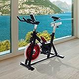 Homcom Vélo d'appartement d'exercice professionnel écran de contrôle multifonction LCD noir 70