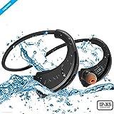 #10: ZAAP® (USA) AQUA FIT Bluetooth Waterproof Headphones {Award-winning Tech} IP-X5 with 4.1 Bluetooth Technology Universal Compatibility Wireless Headphone/Headset With Built-In Microphone (Black)