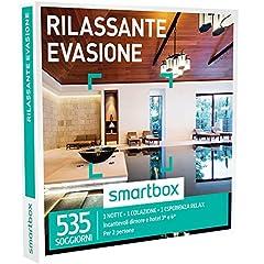 Idea Regalo - Smartbox - Cofanetto Regalo - RILASSANTE EVASIONE - 535 soggiorni con un'esperienza relax in dimore e hotel 3* e 4*