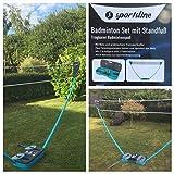 Komplett Set Badminton Set Koffer Federball Netz 2 Schläger