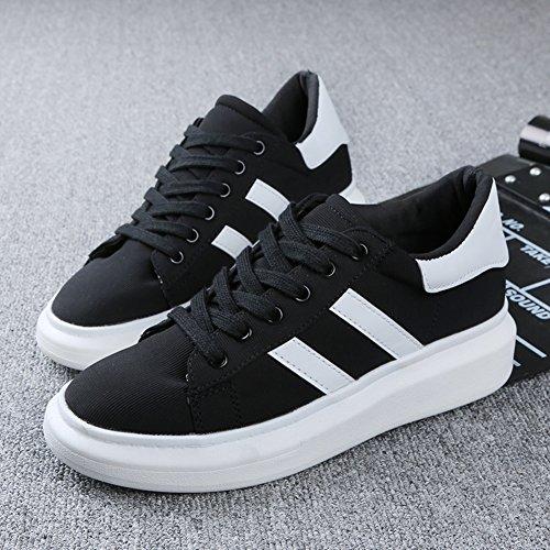 Primavera ed estate dal fondo pesante scarpe sportive bianche/scarpe di tela Lace-up/scarpe da corsa all'interno della più alta/scarpe casual studenti A