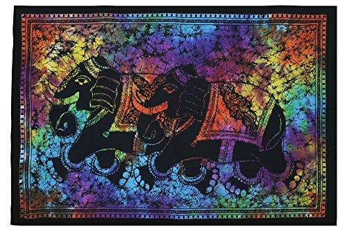 Afflon Modern Art Mandala Stil Elefant Poster, Wandteppich, Wand Décor, Gobelin